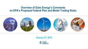 Overview of Duke Energy's Comments January 27, 2016