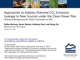 Approaches to Address Potential CO Emissions