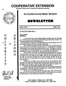 COOPERATIVE EXTENSION NEWSLEtVER u