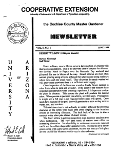 COOPERATIVE EXTENSION OF 2 NEWSLETTER