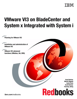 VMware VI3 on BladeCenter and System x Integrated with System i