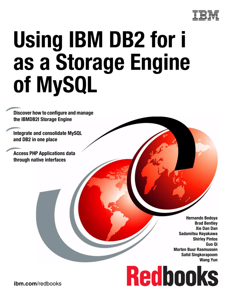 Using IBM DB2 for i as a Storage Engine of MySQL Front cover
