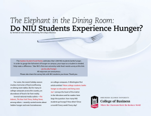 The Elephant in the Dining Room: Do NIU Students Experience Hunger?