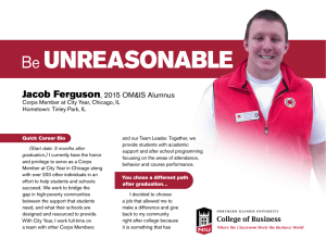 UNREASONABLE Be Jacob Ferguson , 2015 OM&IS Alumnus