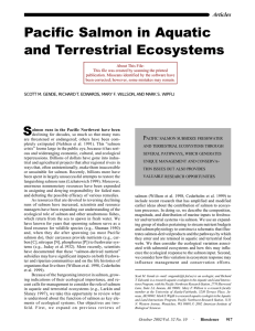 Pacific Salmon in Aquatic and Terrestrial Ecosystems Articles P