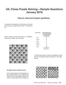 UIL Chess Puzzle Solving—Sample Questions January 2016