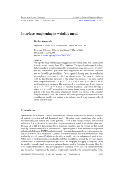Interface roughening in wrinkly metal