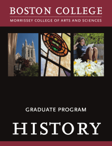history boston college graduate program morrissey college of arts and sciences