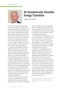 An Economically Sensible Energy Transition Anthony Bernhardt