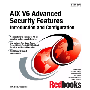 AIX V6 Advanced Security Features Introduction and Configuration Front cover