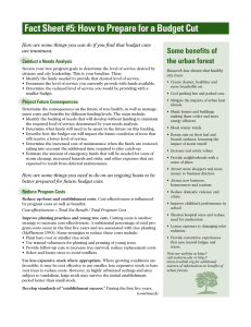 Fact Sheet #5: How to Prepare for a Budget Cut