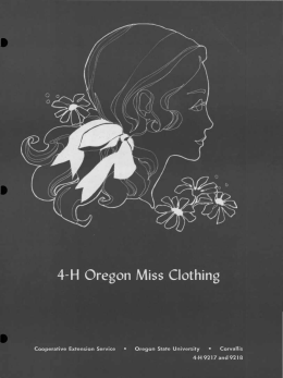4-H Oregon Miss Clothing Corvallis Cooperative Extension Service Oregon State University
