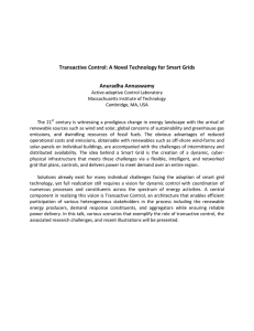 Transactive Control: A Novel Technology for Smart Grids Anuradha Annaswamy