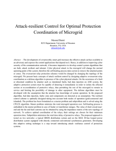 Attack-resilient Control for Optimal Protection Coordination of Microgrid Masoud Barati