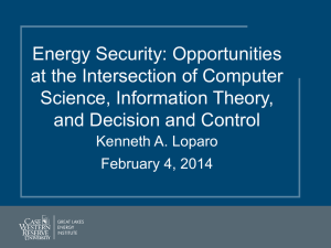 Energy Security: Opportunities at the Intersection of Computer Science, Information Theory,