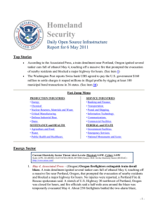 Homeland Security Daily Open Source Infrastructure Report for 6 May 2011