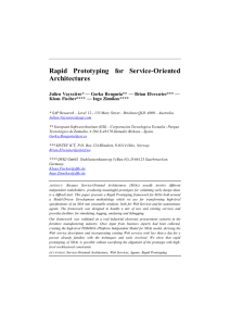 Rapid Prototyping for Service-Oriented Architectures
