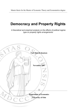 Democracy and Property Rights