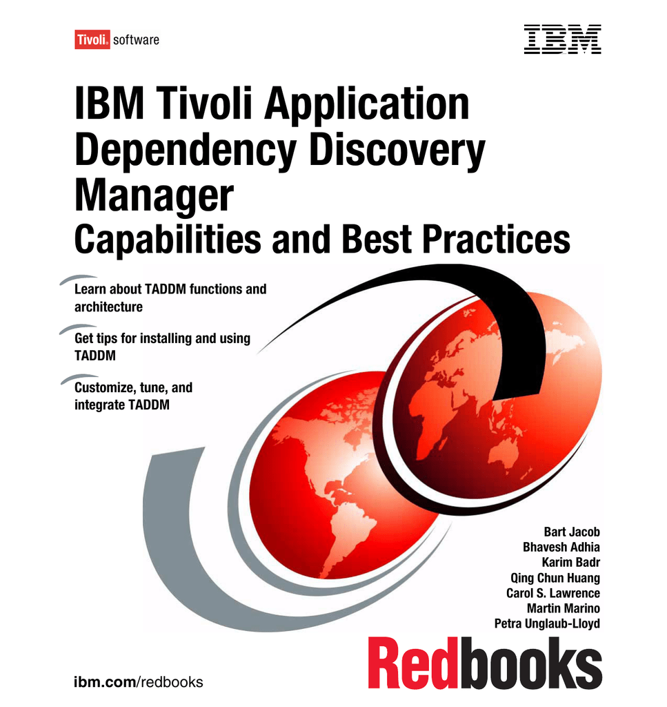 IBM Tivoli Application Dependency Discovery Manager Capabilities and