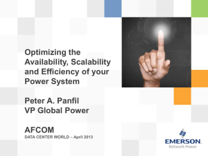 Optimizing the Availability, Scalability and Efficiency of your Power System