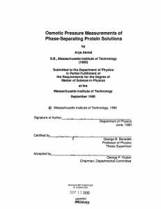 Osmotic Pressure Measurements of Phase-Separating Protein Solutions