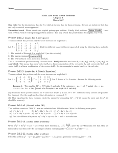 Name Class Time Math 2250 Extra Credit Problems Chapter 5