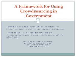 A Framework for Using Crowdsourcing in Government