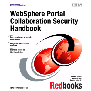 WebSphere Portal tal Collaboration Security urity