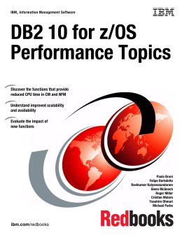 DB2 10 for z/OS Performance Topics Front cover
