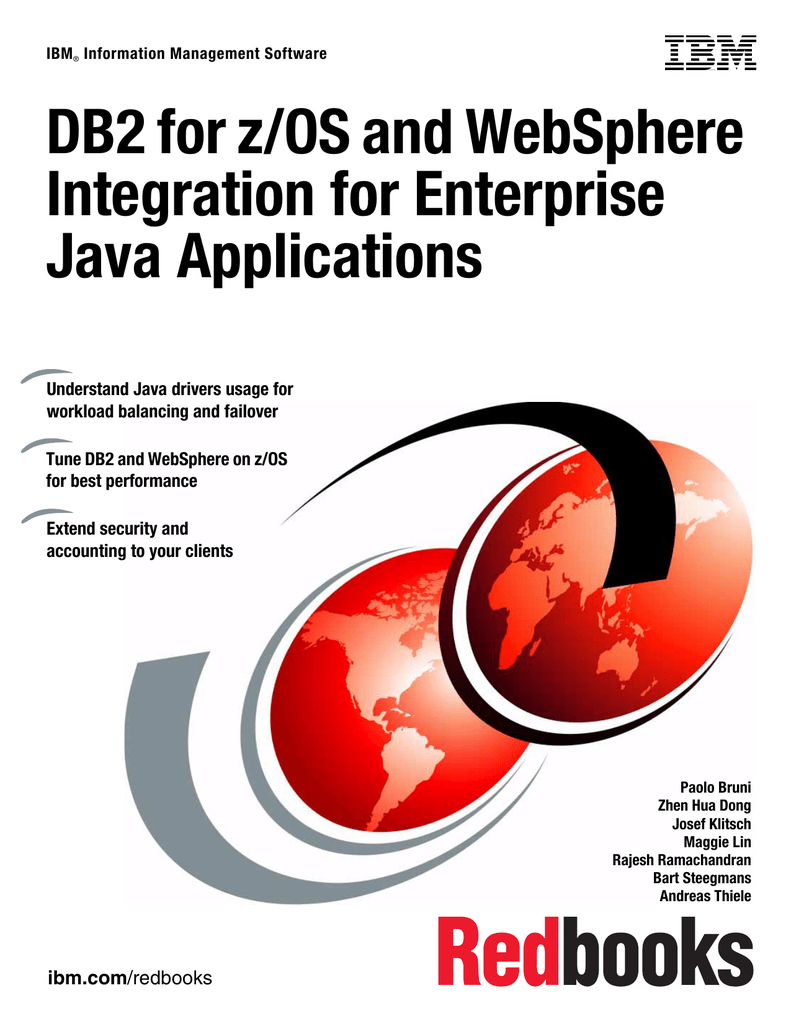 Db2 For Zos And Websphere Integration For Enterprise Java