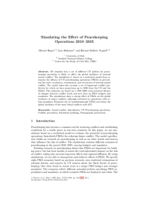 Simulating the Effect of Peacekeeping Operations 2010–2035 H˚ avard Hegre