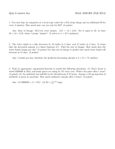 Quiz 6 answer key Math 1030-005 (Fall 2014)