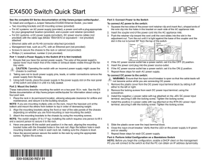 EX4500 Switch Quick Start
