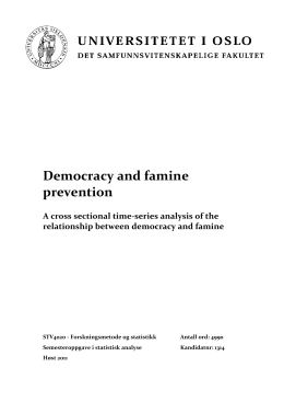 Democracy and famine prevention A cross sectional time-series analysis of the