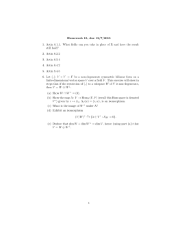 Homework 15, due 12/7/2015 still hold?