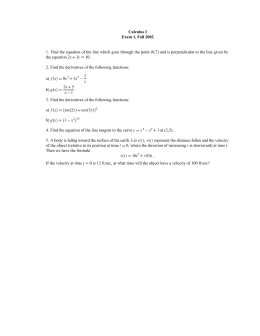 Calculus I Exam 1, Fall 2002