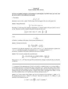 Calculus III Exam 2, Summer 2003, Answers