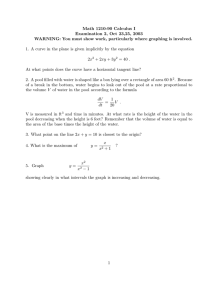 Math 1210-90 Calculus I Examination 2, Oct 23,25, 2003