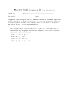 Math1210 Weekly Assignment 11