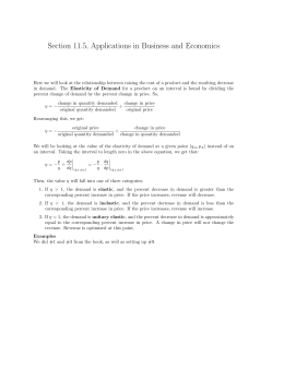 Section 11.5, Applications in Business and Economics