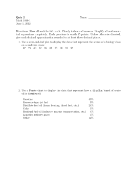 Quiz 2 Name: Math 1040-1 June 1, 2012