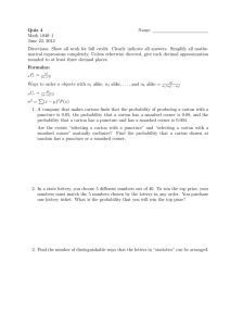Quiz 4 Name: Math 1040–1 June 22, 2012