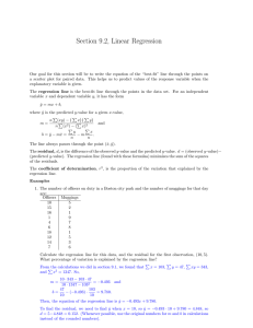 Section 9.2, Linear Regression