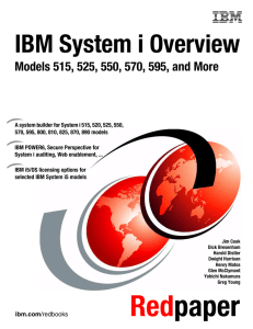 IBM System i Overview Front cover
