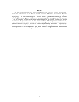 Abstract The analytic continuation method for representing transport in composites provides...