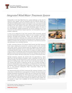 Integrated Wind-Water Treatment System