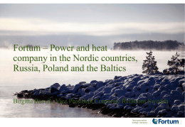Fortum – Power and heat company in the Nordic countries,