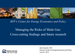 Managing the Risks of Shale Gas: Cross-cutting findings and future research