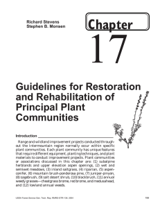 17 Chapter Guidelines for Restoration and Rehabilitation of