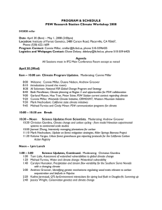 PROGRAM & SCHEDULE PSW Research Station Climate Workshop 2008